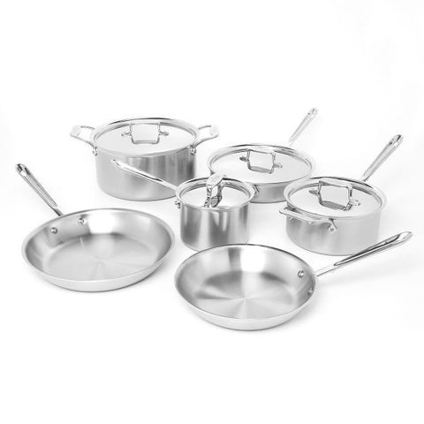 All-Clad d3 Stainless 10 Piece Set