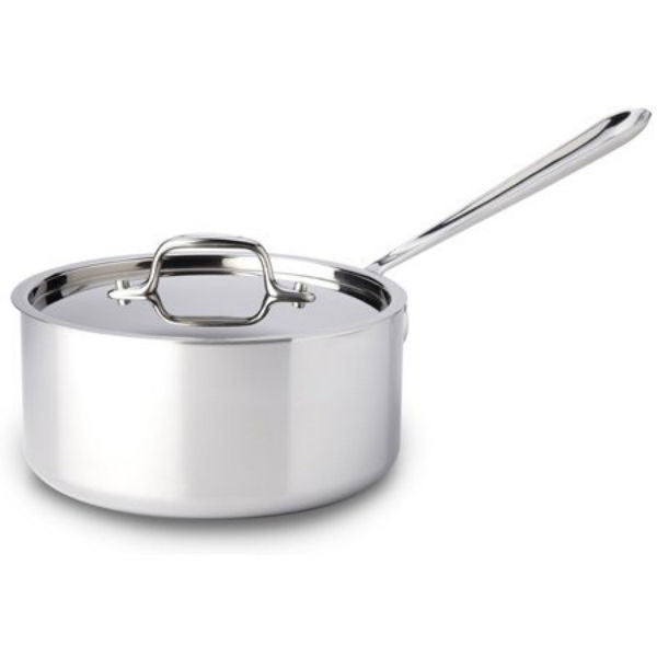 All-Clad d3 Stainless Sauce Pan with Lid - 3.5Qt