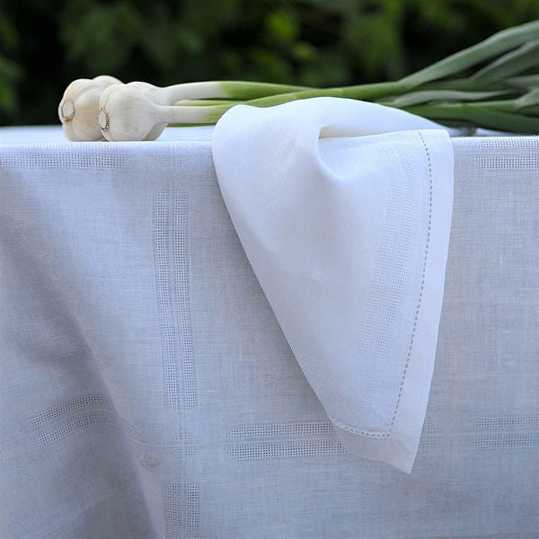 Linen Way Natalie Napkins - White Sm. 4 Pk.
