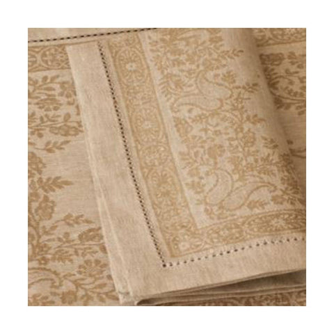 Linen Way Beige Paisley Napkins - Set of 4