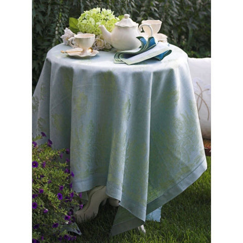 Linen Way Leaves of Italy Table Cloths Green & Blue