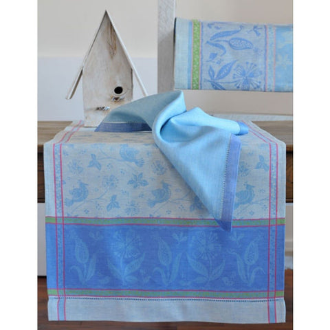 Linen Way Birds Table Runner - Blue