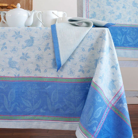 Linen Way Birds Tablecloths - Blue