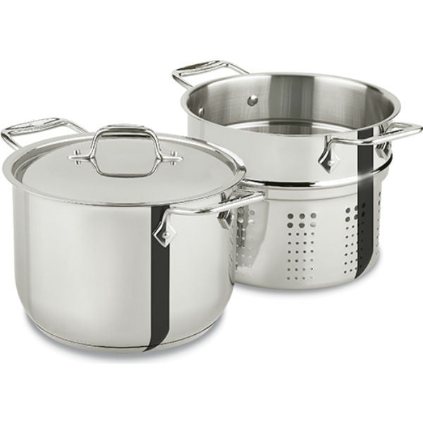 All Clad Stainless Steel Pasta Pot - 6 Qt
