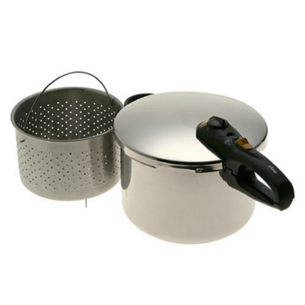 Fagor Duo 8 Quart Stainless Steel Pressure Cooker