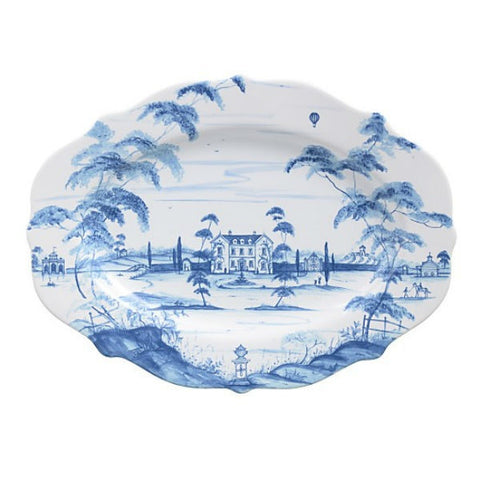 "Juliska Country Estate Serving Platter 18.5"" Blue"