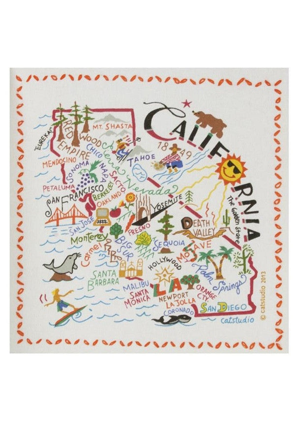 Catstudio Dish Towel California