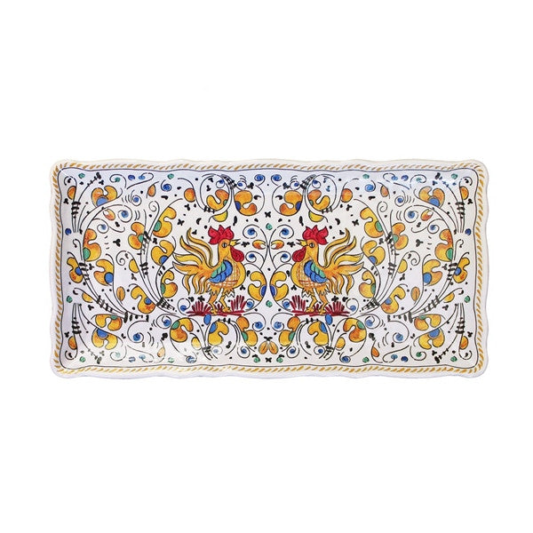 Le Cadeaux Baguette Tray Rooster Yellow