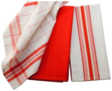 Le Creuset Kitchen Towels Set/3 Flame