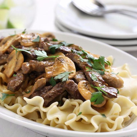 Beef Stroganoff with Homemade Pasta