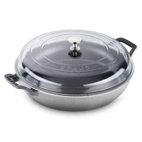 Staub 3.5 Qt Braiser with Glass Lid - Graphite
