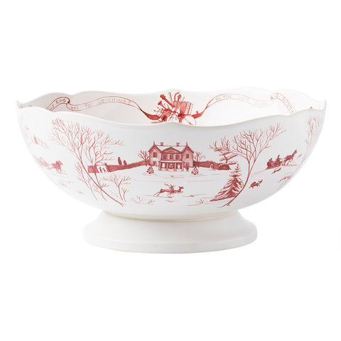 Juliska Country Estate Winter Frolic Ruby Centerpiece Bowl - 13""