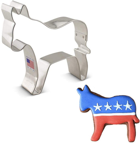 Ann Clark Democratic Donkey Cookie Cutter