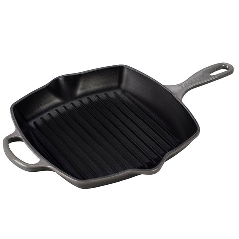 "Le Creuset 10.25"" Signature Square Skillet Grill - Oyster"