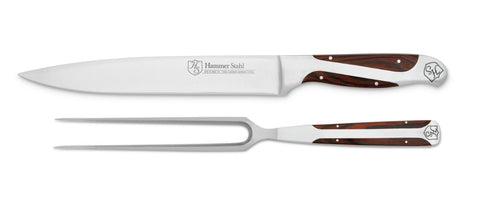 Hammer Stahl Carving Knife and Fork Set