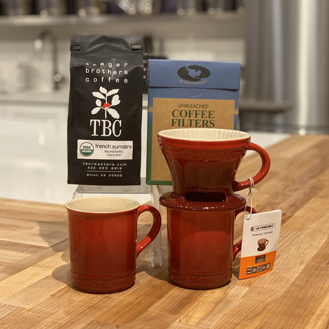 Pour Over Coffee Gift Set - Cerise