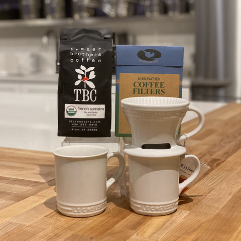 Pour Over Coffee Gift Set - White