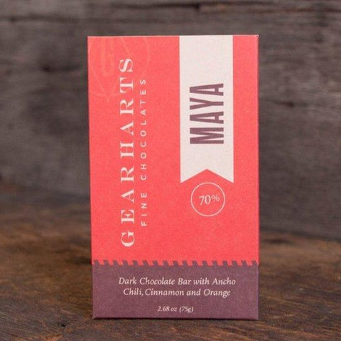 Gearharts Chocolate Dark Chocolate Maya Bar