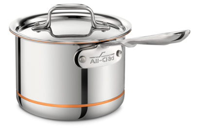 All-Clad Copper Core Sauce Pan with Lid - 2 Qt