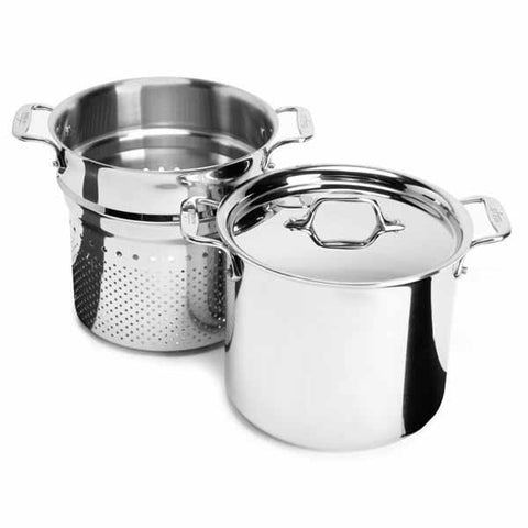 All-Clad d3 Stainless Pasta Pentola - 7 Qt