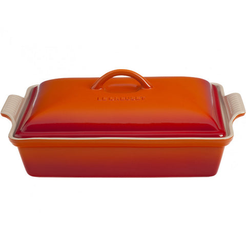 Le Creuset Covered Rectanglular Casserole Flame
