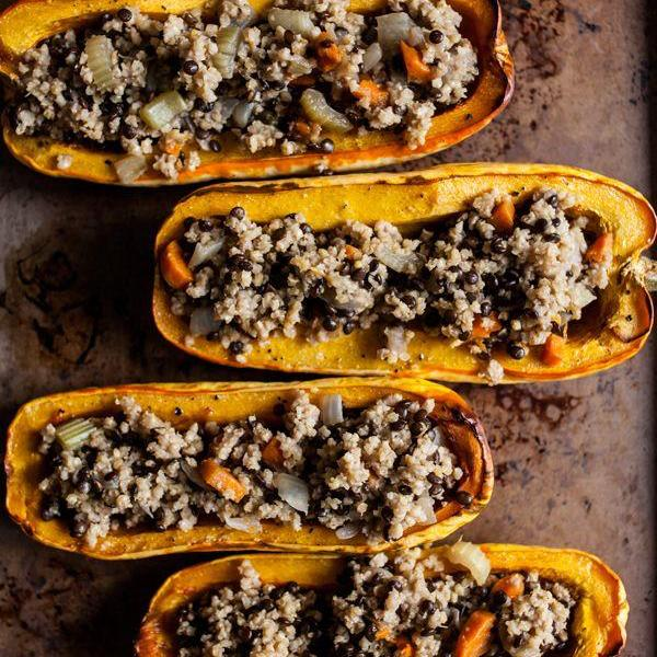 Stuffed Heirloom Squash