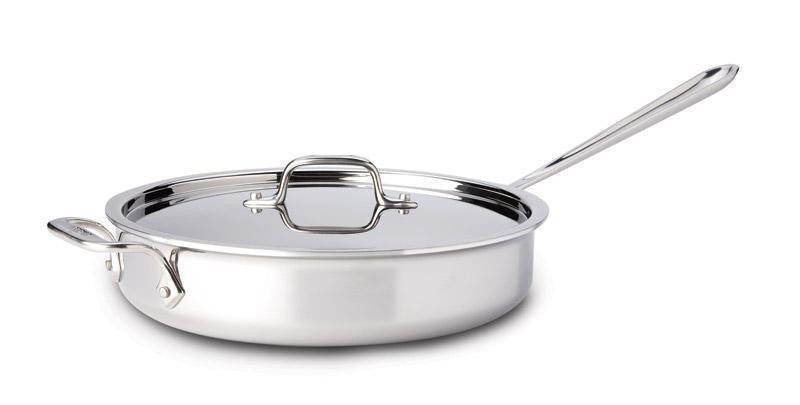 All-Clad d3 Stainless Saute Pan with Lid - 5 Qt