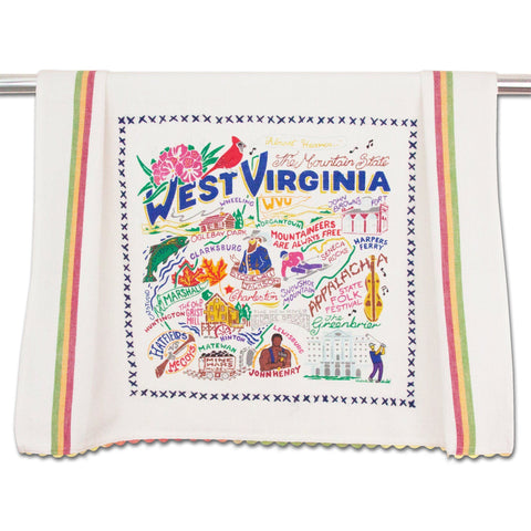 Catstudio Dish Towel - West Virginia