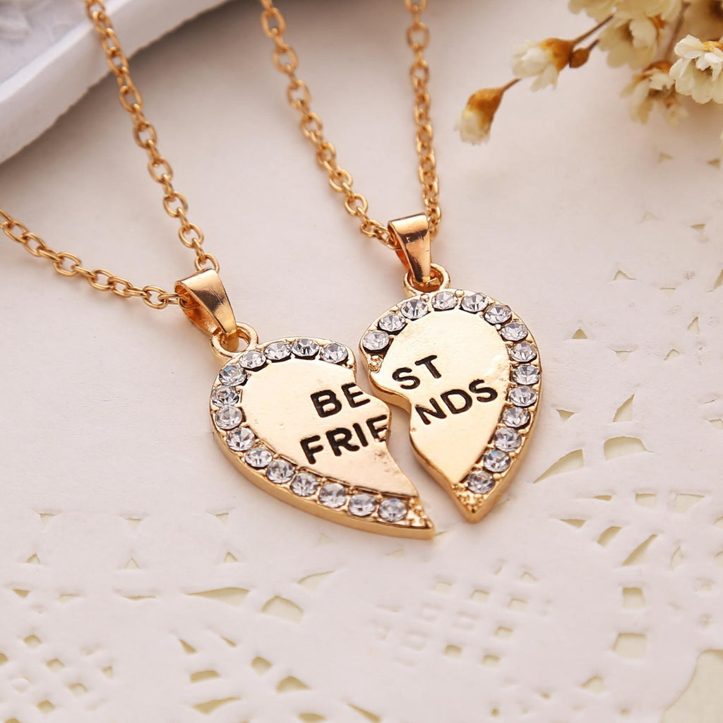 Best friends necklaces lovely rhinestone heart pendant necklace best friends necklaces lovely rhinestone heart pendant necklace value grabs mozeypictures Images