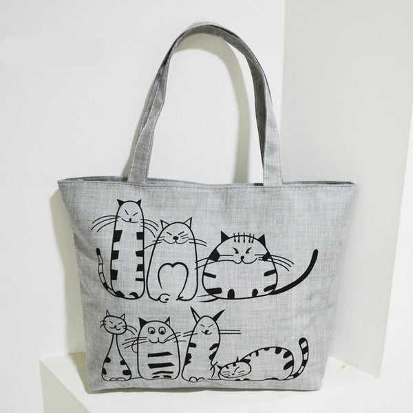 Cartoon Cats Tote Handbag - Value Grabs
