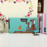 Cartoon Dog Zip Around Wallet - Value Grabs