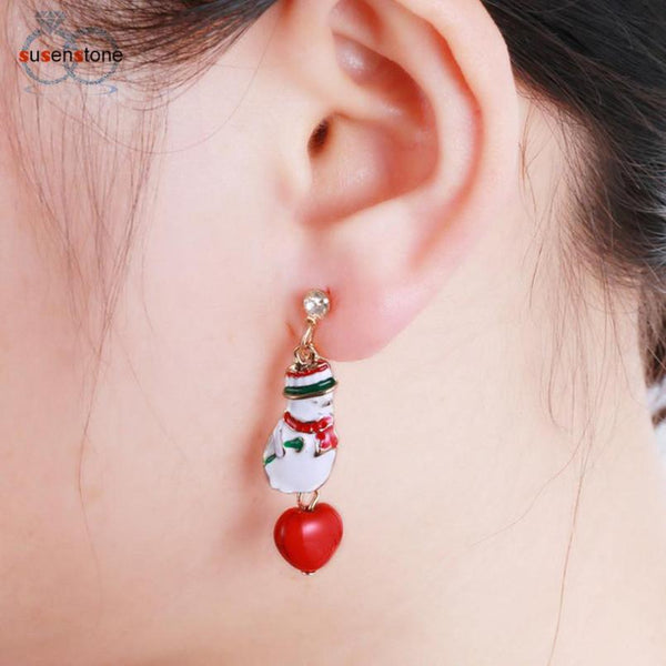 Cartoon Snowman Earrings - Value Grabs