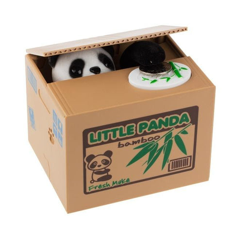 Cute Panda Coin Thief Piggy Bank - Value Grabs