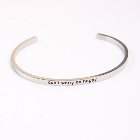 Don't Worry Be Happy Mantra Bracelet - Value Grabs