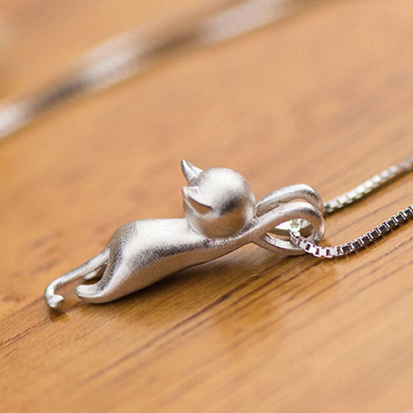 FREE Genuine Sterling Silver Cat Pendant - Value Grabs