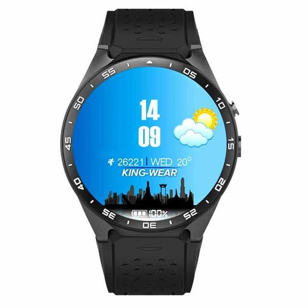 KW Smart Watch (Android 5.1 OS, Quad Core Support) with built-in WiFi, GPS and Heart Rate Monitor *2018 HOT SELLER* - Value Grabs