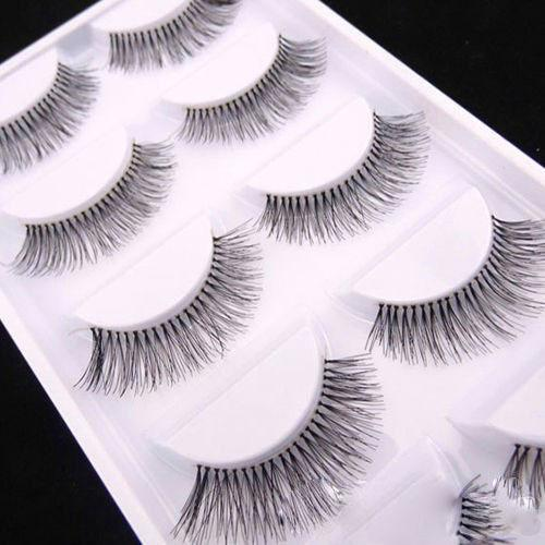Natural Black Long Sparse Fake Eyelashes - Value Grabs