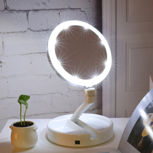 LightBella™ Folding LED Vanity Mirror *2018 Hot Seller* - Value Grabs