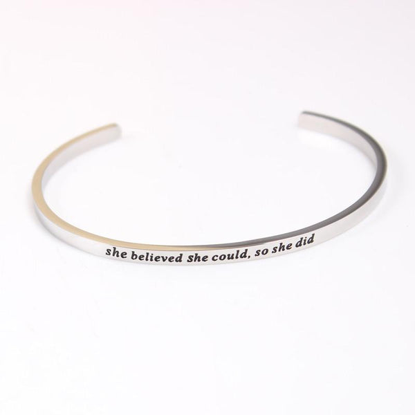 She Believed Mantra Bracelet - Value Grabs