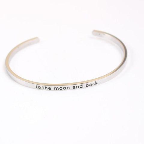 To The Moon and Back Mantra Bracelet - Value Grabs