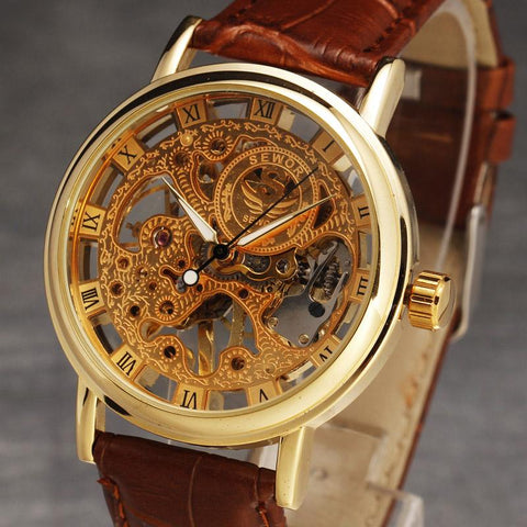 Vintage Luxury Skeleton Watch (Men's) - Value Grabs