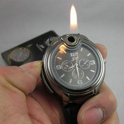 Watch & Lighter In One - Windproof Flameless Cigarette Lighter Watch *Limited Supplies Left!* - Value Grabs