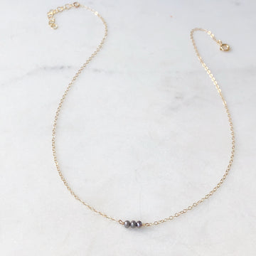 Smokey Pearl Necklace - Token Jewelry