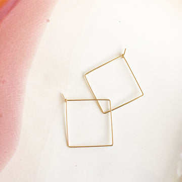 Square Hoops - Token Jewelry Designs