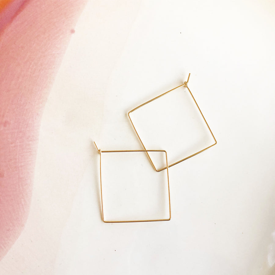Square Hoops - Token Jewelry