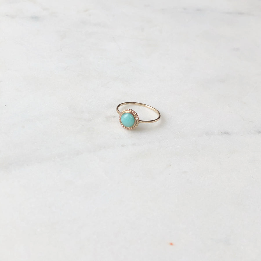 Amazonite Blossom Ring - Token Jewelry