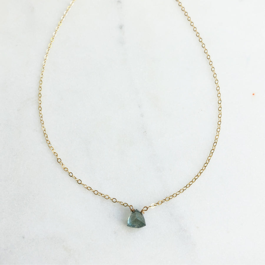 Aqua Triad Necklace - Token Jewelry Designs