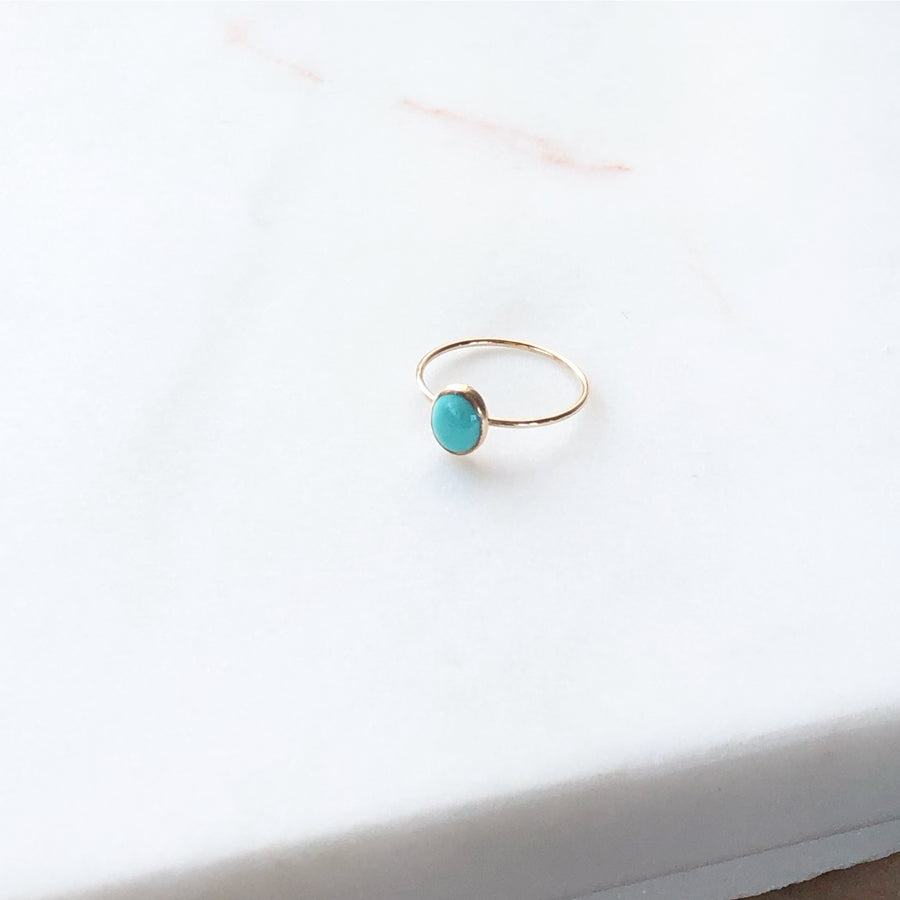 Turquoise Oval Ring - Token Jewelry Designs