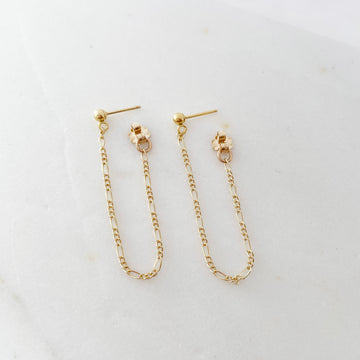 Amelie Chain Studs - Token Jewelry
