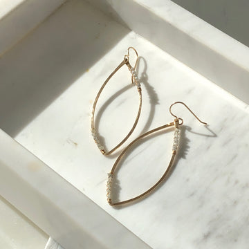 Raw Diamond Hoops - Token Jewelry Designs